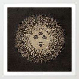 Three Eyed Sun Art Print