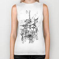 chandelier Biker Tanks featuring Chandelier by Kim Ly