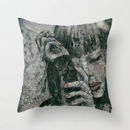 Miss With A Cigarette Wet Vintage 9 Throw Pillow