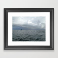 Storm, Ocean Buoy, Atlantic Framed Art Print