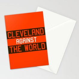 Cleveland Against The World Stationery Cards