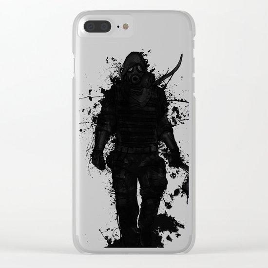 Apocalypse Hunter Clear iPhone Case