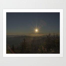 Sunset in the Smokeys Art Print