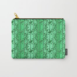 Abstract green striped pattern. Carry-All Pouch