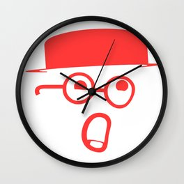 My typeface is melting! Wall Clock