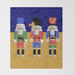 Christmas Nutcrackers Throw Blanket