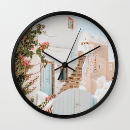 Santorini Greece Wall Clock
