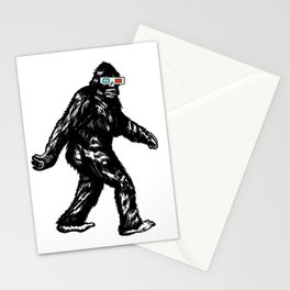 GONE SQUATCHIN' WITH 3D GLASSES Stationery Cards