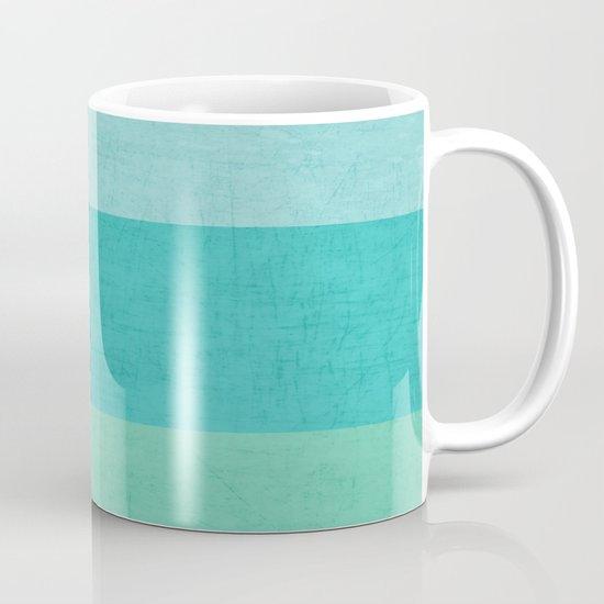 three stripes - teal Mug