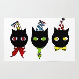 Chats fêtes Rug
