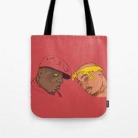 tupac Tote Bags featuring Resting Kings by Aybee Omari
