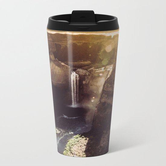 Desert Waterfall Metal Travel Mug