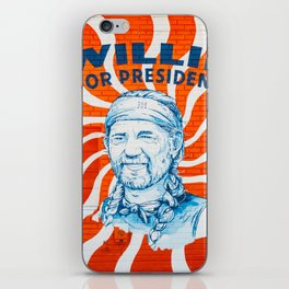 Willie For President iPhone Skin