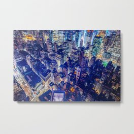 Colorful New York City Skyline Metal Print