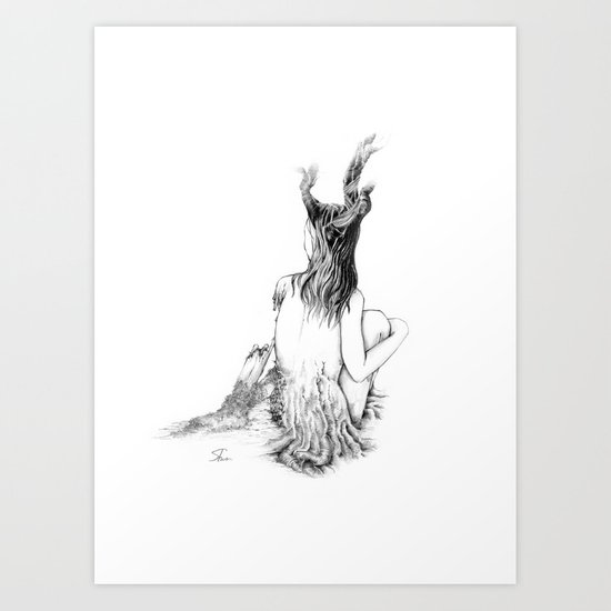 Sleeping Forest Art Print
