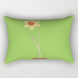 Daffodil Pot Rectangular Pillow
