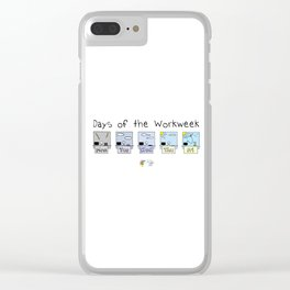 Days of the Workweek Clear iPhone Case
