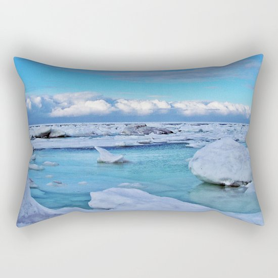Frozen, and clouds on the Horizon Rectangular Pillow