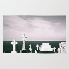 A place to rest by the ocean Rug