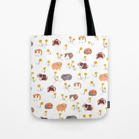 pigs Tote Bags featuring Guinea Pigs by jo clark