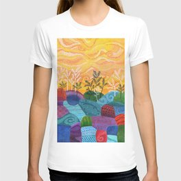 on and on fields T-shirt