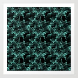 Abstract pattern.the effect of broken glass.Black background. Art Print