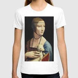 THE LADY WITH AN ERMINE - DA VINCI T-shirt