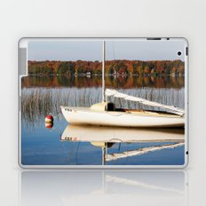 Sailboat on Quiet Lake in Autumn Laptop & iPad Skin