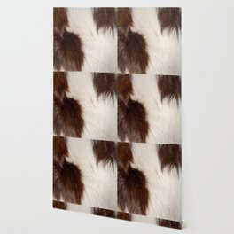 Animal Fur Brown And White Wallpaper