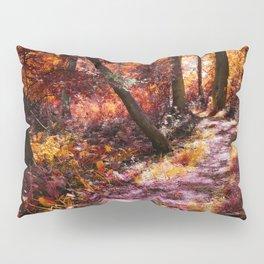 Wooden Bridge in the Autumn Woods Pillow Sham