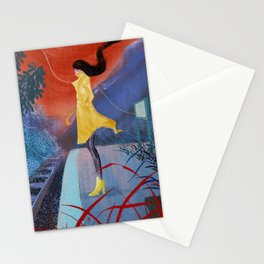 Is the train coming? Stationery Cards