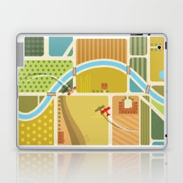 from above in the skies of Picardy Laptop & iPad Skin