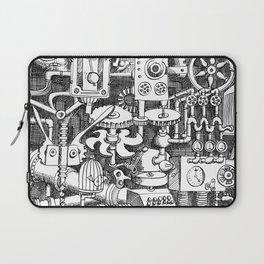 DINNER TIME FOR THE ROBOT Laptop Sleeve