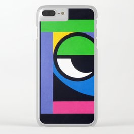 Curious Guy - Paint Clear iPhone Case