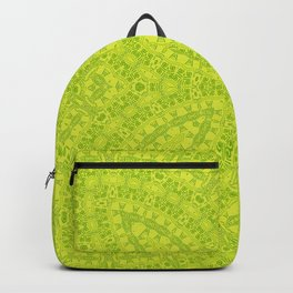 Green neon ornament Backpack