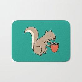 Squire squirrel Bath Mat