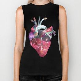 Superstar Heart (on grey) Biker Tank