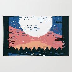 Starry Pixel Night Rug