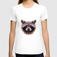 raccoon T-shirts featuring Raccoon by Roxy Color