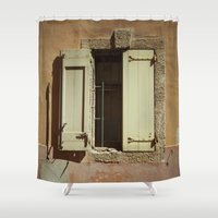 window Shower Curtains featuring Window by Maria Heyens