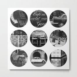 Polka dot Paris Metal Print