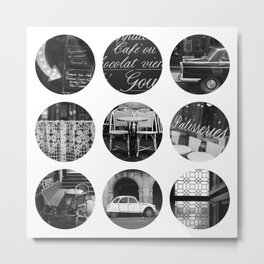 Polka dot Paris Metal Print