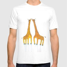 Unicorn Giraffes White Mens Fitted Tee MEDIUM
