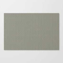 Muted Green & Beige Checkerboard Pattern Inspired By PPG Glidden Colors of 2019 Night Watch PPG114 Canvas Print