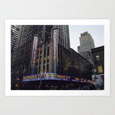 Radio City Music Hall. Art Print