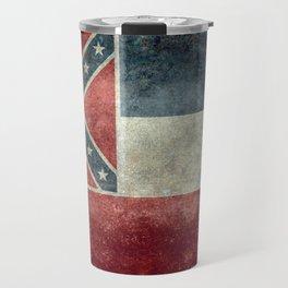 Mississippi State Flag - Distressed version Travel Mug