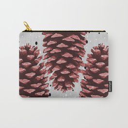 Three big Pinecone Winter Christmas  Carry-All Pouch