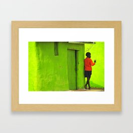 Green House Framed Art Print