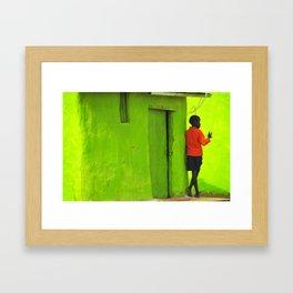 Green House Framed Art Print