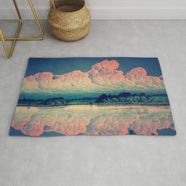 Admiring the Clouds in Kono Rug